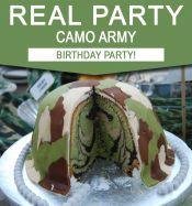 Camo Army Birthday Party Ideas