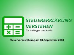 Steuervorauszahlung am 10. September 2018 | Steuerberater Blog