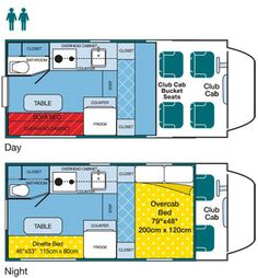 floor plans for truck campers images | Floor Plans