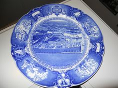 Wedgwood U s Naval Academy Airplane View from East Blue Plate | eBay