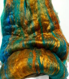 fiber art batt wool roving PHAT FIBER Rust and by wildethyme