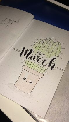 Hello March | Cactus | Bullet Journal