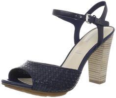 Rockport Jalicia Woven Quarter Ankle-Strap Sandal in Dress Blues