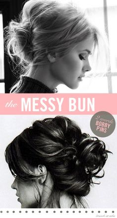 2-messy-bun-hair-tutorial-with-bobby-pins.....yeah, if I tried this I'd look like a hot mess :-/