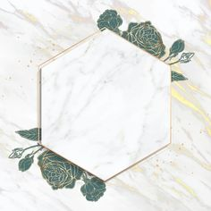 Blank golden hexagon frame vector | premium image by rawpixel.com / taus Photo Frame Wallpaper, Flower Background Wallpaper, Flower Backgrounds, Leaf Background, Rose Frame, Flower Frame, Twitter Header Pictures, Background Design Vector, Gold Invitations