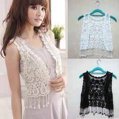 Crochet Waistcoat Crochet Waistcoat, Boho, Lace, Jackets, Shopping, Women, Ebay, Style, Fashion