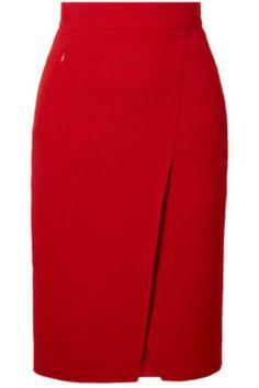 Akris - Wrap-effect wool-crepe skirt - - Akris – Wrap-effect wool-crepe skirt Products Akris – Wrap-effect Wool-crepe Skirt – Red Pencil Dress Outfit, Pencil Skirt Casual, Pencil Skirt Outfits, Denim Pencil Skirt, Pencil Skirts, Pencil Dresses, Denim Skirt, Pencil Skirt Tutorial, Satin Pencil Skirt