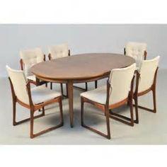 100325 Omann Jun dinningtable model 55. 6 chairs, Vamdrup stolefactory ... Jun, Chairs, Dining Table, Decor Ideas, Model, Furniture, Home Decor, Decoration Home