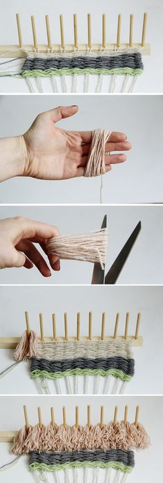 Fall For DIY Woven Wall Hanging Tutorial 3