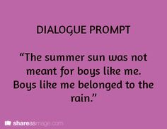 dialogue prompt - reminds me of Phantom of the Opera. But then again, everything reminds me of that.
