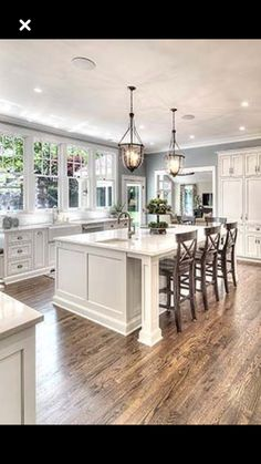 Gorgeous Kitchen Island Design Ideas and Photos - Zillow Digs Kitchen Redo, Home Decor Kitchen, Kitchen Living, New Kitchen, Home Kitchens, Kitchen Remodel, Kitchen Island, Kitchen Ideas, Küchen Design