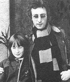 Julian Lennon and John lennon