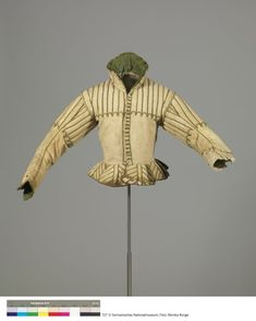 Leather Doublet. The doublet belonged to a boy or a young man. The hardwearing leather offered protection in many activities. The damaged sleeve reveals the underlying layers. Leather made from wild or domestic animals was easily available and was turned into innumerable items of clothing.