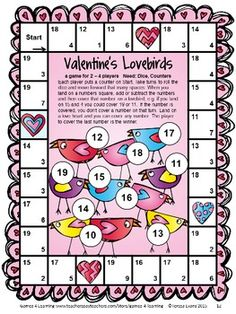 Valentine's Day Games Second Grade by Games 4 Learning. Kids will LOVE these games! 14 printable games! $
