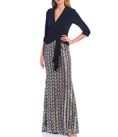 Gowns With Sleeves, Maxi Dress With Sleeves, Formal Dresses For Women, Perfect Woman, Adrianna Papell, Tuxedo, Mother Of The Bride, Chevron, Evening Dresses