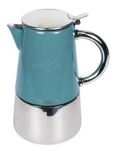 Teal Blue Stainless Steel Novo Espresso Italian Coffee Maker Hob Stove-Top Pot | eBay