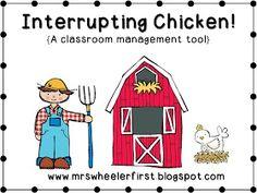 Mrs. Wheeler's First Grade Tidbits: Interrupting Chicken!!