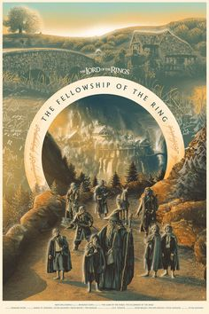 Affiche alternative du film The Lord of the Rings: The Fellowship of the Ring (Peter Jackson) de Tom Miatke Lord Of Rings, Fellowship Of The Ring, The Lord Of The Rings, Beau Film, O Hobbit, Legolas, Aragorn, Gandalf, Alternative Movie Posters