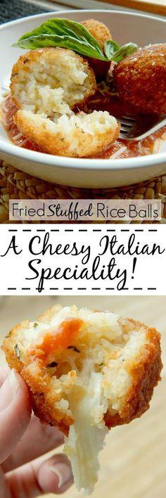 Fried Stuffed Rice Balls...known as Arancini de Riso in Italian are a crowd…