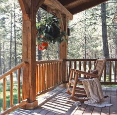 love the wooden porch