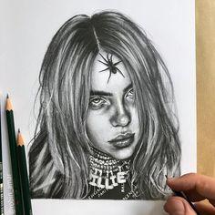Billie Eilish by #artist Robin Amar from #France (📷robin_amar) #Pencil #penci...