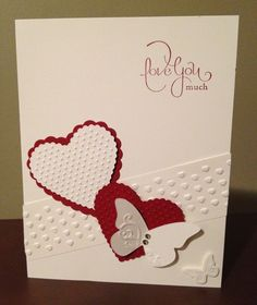 Stampin Up Valentine Cards | Valentines Day Stampin' Up Card :) | Cardsa