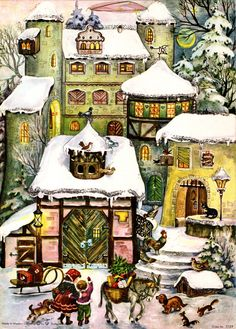 (Same as Nr. Illustrated by Anita Rahlwes Advent Calendars, Illustration, Christmas, Art, Advent Calendar, Yule, Art Background, Illustrations, Xmas