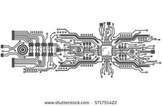 circuit board background texture, vector illustration
