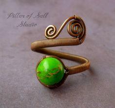 Wire wrapped jewelry handmade Copper Wire by PillarOfSaltStudio, $23.00