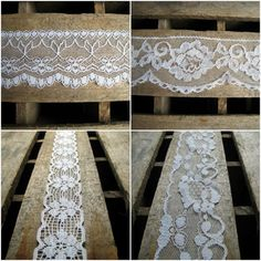 4 Different Styles of Lace Trim  Over 6 Yards by EntirelyApropos