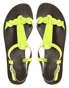 Is there anything more FUN than fluro leather sandal's - I think not!