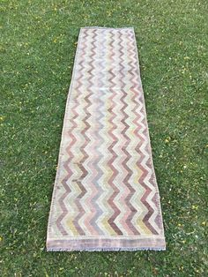 "Oushak Runner,Embroidered Vintage Turkish Kilim Runner,Hallway Runner 2'6""x9'10"" 
