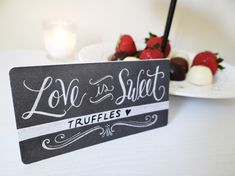 Great valentine's day idea for your loved one! Make a Romantic DIY chalk message gift.