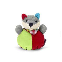 Sterntaler knuffelzak vos Wilbur  Het zachte knuffelzak moet overal mee naartoe. Met piepjes, knisperpapier en klittenband, die de zintuigen van de kleinsten prikkelen.   www.emmaswereld.nl
