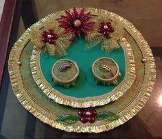 Puja thali- Vrishti Creations | ️Thali Decor ️ | Wedding ...