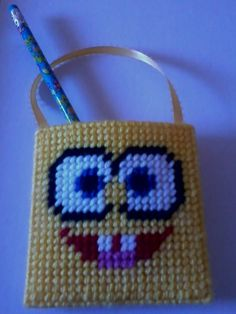 Spongebob Holder/Purse- Pattern created by me - $2.50 (discount when ordering multiples). http://facebook.com/Faithanns.Gifts.And.More