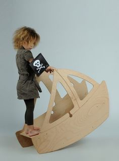 wooden pirate boat rocker - Studio ToutPetit