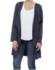 LADIES DRAPE LAPEL CARDIGAN WITH TIE FRONT BELT #StagesWestWishList