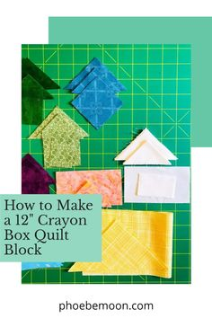 Crayon Box, Block Of The Month, Cute Cuts, Quilt Tutorials, Crayons, School Projects, Quilt Blocks, Favorite Color, Quilt Patterns