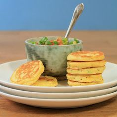 Jalapeno Corn Cakes with Avocado Salsa | A Spicy Perspective