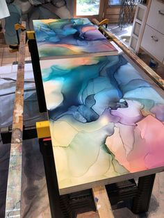 The Future Of Art – Investment Concepts – Buy Abstract Art Right Alcohol Ink Crafts, Alcohol Ink Painting, Alcohol Ink Art, The Joy Of Painting, Positive Art, Lake Art, Acrylic Painting Lessons, Cool Paintings, Art Techniques