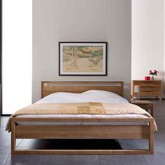 Wood Bedroom Sets, Wood Bedroom Furniture, Furniture Decor, Bedroom Ideas, Light Bedroom, Bedroom Modern, Unique Bed Frames, Solid Wood Bed Frame, Bed Frame Design