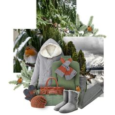 Winter Birds by sagramora on Polyvore featuring Chanel, Siwy, UGG, Frye, Brixton, Muk Luks and Ted Baker