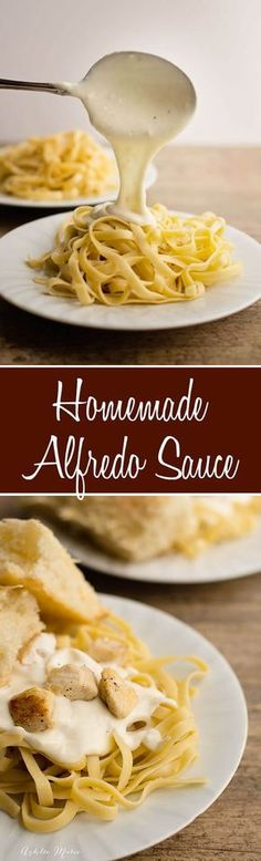 It doesn't get much better than creamy, cheesy homemade Alfredo Sauce. This recipe is easy to make and is always a huge hit.   Winter   Comfort Food   Food Cravings   Alfredo   Pasta Sauce   #pastasauce #alfredosauce #comfortfood #saucerecipes