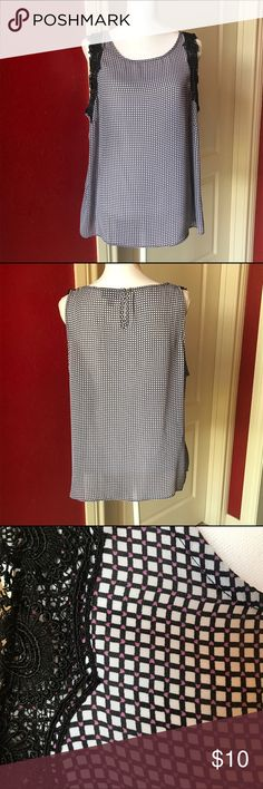 Worthington sleeveless top Top in great condition that can be layered or worn alone in a warm day.  Great detailing around arm area. Worthington Tops Blouses