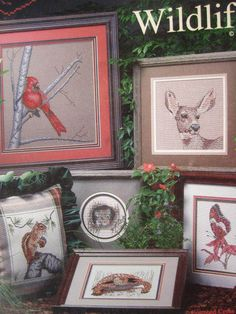 See Sally Sew-Patterns For Less - Woodland Wildlife Cardinal Frogs Butterfly Deer   More Cross Stitch Cross My Heart Designs CSB 22 Booklet, $8.00 (http://stores.seesallysew.com/woodland-wildlife-cardinal-frogs-butterfly-deer-more-cross-stitch-cross-my-heart-designs-csb-22-booklet/)