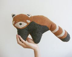 Plush Red Panda Doll stuffed animal totem plush dolls - Fauna Friends Collection by Fawn and Sea - handmade with eco friendly felt & fill