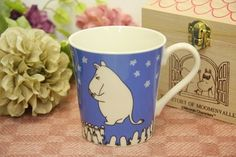 Fcollection   Rakuten Global Market: Mug cup blue with NEW ★ domestic production Mumin new work wooden box★
