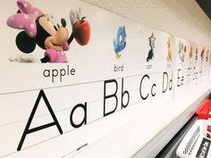 in my dreams....a mickey classroom!!!  Classroom Decor: Our Disney Alphabet set.