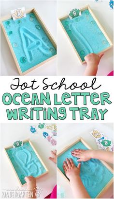 weight loss nutrition health tips health and fitness gym workout We love salt trays for practicing pre-writing skills! This blue letter writing salt tray is perfect for an ocean theme in tot school, preschool, or the kindergarten classroom. Preschool Literacy, Preschool Lessons, Kindergarten Classroom, Kindergarten Activities, Preschool Activities, Water Theme Preschool, Daycare Curriculum, Vocabulary Activities, Summer Activities For Preschoolers